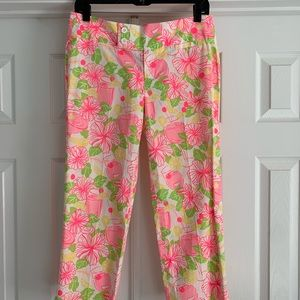Lilly Pulitzer, Palm Beach Fit Capri Pants, Size 4